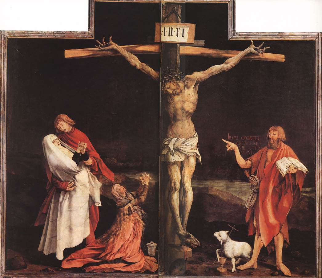 Mathias Grunewald, Isenheim Altarpiece, Crucifiction