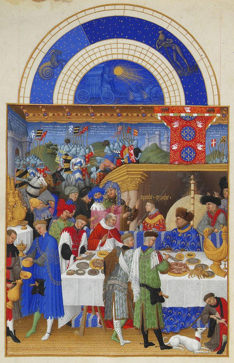 Les Très Riches Heures du duc de Berry, January