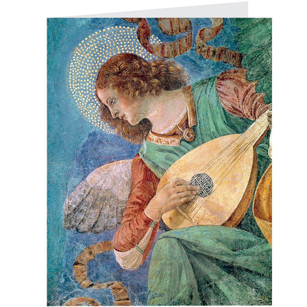 Melozzo da Forli, Angel with Lute