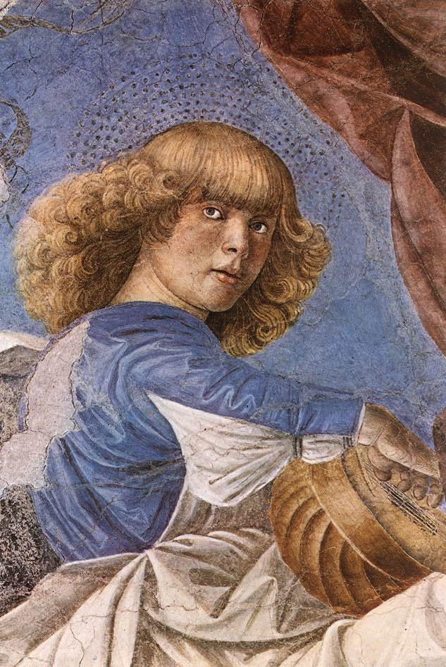 Melozzo da Forli, Music-making Angel