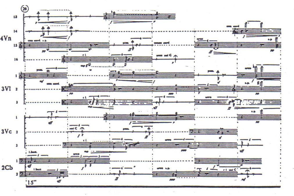 Penderecki Trenody score excerpt