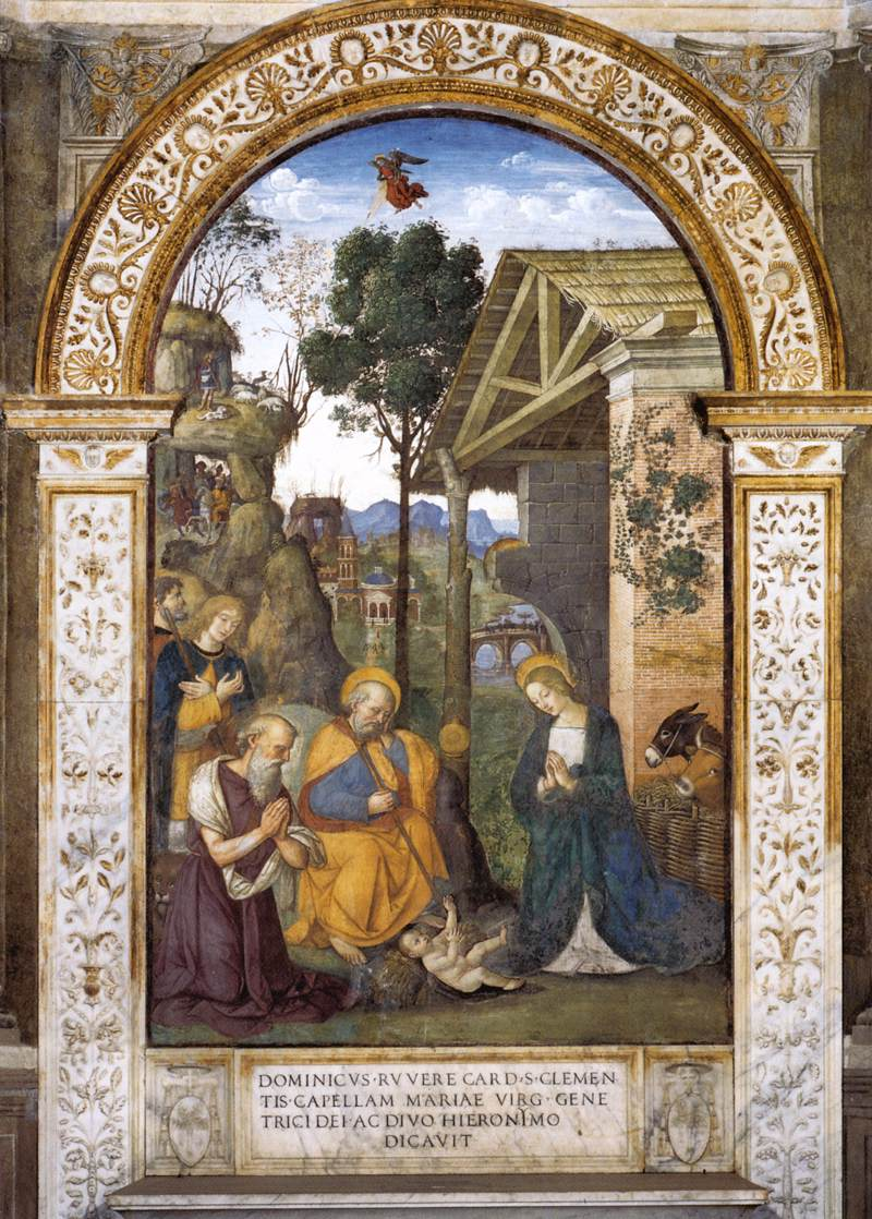 Adoration of the Child, by Pinturicchio